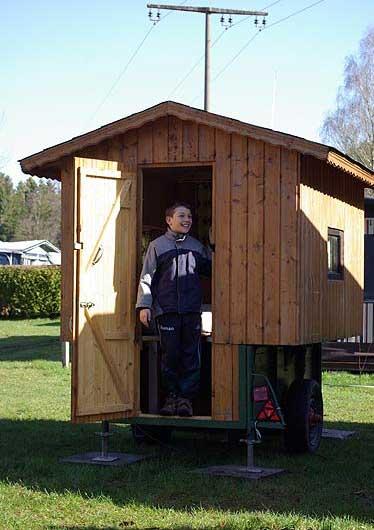 Der kleine Bauwagen Villa Lustig.