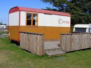 Der kleine Cirkuswagen.