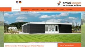 Die Website des Campingplatzes amici lodges bietet vielfältige Informationen.