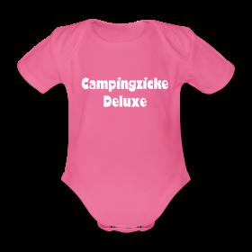 "Unser Baby-Strampler mit dem Motiv ""Campingzicke deluxe"""