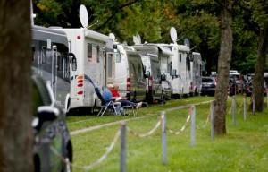 Übernachten auf dem Caravan Salon ist mit dem eigenen Fahrzeug möglich. Foto: Messe Düsseldorf / ctillmann.