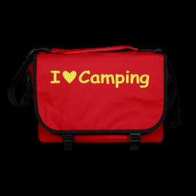 """Umhängetasche mit Druckmotiv """"I love Camping"""""""