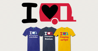 """Druckmotiv """"Ich liebe meinen Caravan"""" und dreiT-Shirts."""